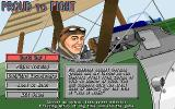 Knights of the Sky DOS Main Menu