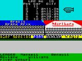 Formula One ZX Spectrum Unlike current licensed F1 games, drivers can be injured