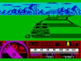 Beverly Hills Cop ZX Spectrum Running wide with the lorry in sight