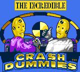 The Incredible Crash Dummies Game Gear Title screen
