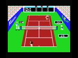 Konami's Tennis MSX That ball was in.