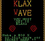 Klax Game Gear Beginning of a wave