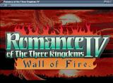 Romance of the Three Kingdoms IV: Wall of Fire Windows Romance of The Three Kingdoms IV Title Screen