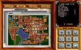 Pizza Tycoon DOS Game Map