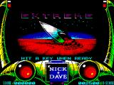 Extreme ZX Spectrum Title screen