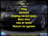 GT Racing 97 DOS Main Menu