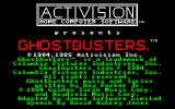 Ghostbusters Amstrad CPC Title
