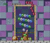 Bust-A-Move SNES Clear all the bubbles to pass the level.