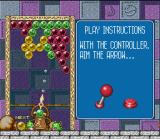 Bust-A-Move SNES Before demonstration mode, you'll receive some basic instructions about how to play.