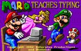 Mario Teaches Typing DOS Game Title