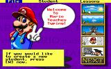 Mario Teaches Typing DOS Main Menu