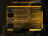 Bet on Soldier: Blood Sport Windows Load menu. You can only save by paying in save stations during missions.
