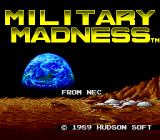 Military Madness TurboGrafx-16 Title screen