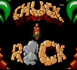 Chuck Rock Game Gear Title screen