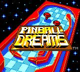 Pinball Dreams Game Gear Title screen