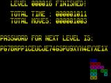 Mindtrap ZX Spectrum The total moves and time are cumulative for the whole game, and cause the lengthy passwords