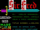Sir Fred ZX Spectrum Title screen