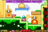 Kirby: Nightmare in Dreamland Game Boy Advance The shiny new world map