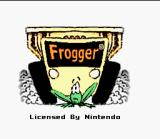 Frogger SNES Title screen.