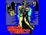 Dick Tracy SEGA Master System Title screen