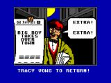 Dick Tracy SEGA Master System Game over!