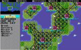 Sid Meier's Civilization DOS The game map in modern times with railroads everywhere