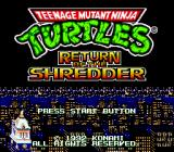 Teenage Mutant Ninja Turtles: The HyperStone Heist Genesis Title Screen (Jpn)