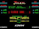 Jackal ZX Spectrum Main menu