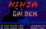 Ninja Gaiden Lynx Title screen