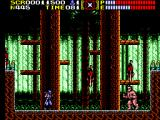 Ninja Gaiden SEGA Master System The sumo shakes the trees so that branches fall down