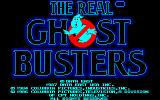 The Real Ghostbusters Amstrad CPC Title