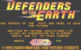 Defenders of the Earth Atari ST Main screen