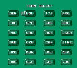 Konami Hyper Soccer NES Team select