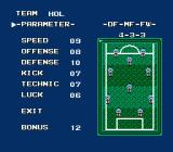 Konami Hyper Soccer NES You can change the start formation of...