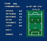 Konami Hyper Soccer NES the team, for example 4-3-3 or 3-5-2