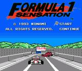 Formula 1 Sensation NES Title screen