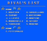 Formula 1 Sensation NES Some rivals are better than others