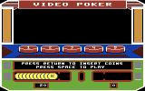 Las Vegas Video Poker Commodore 64 The video poker machine; insert some coins to play!