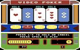 Las Vegas Video Poker Commodore 64 Attempting a straight flush...
