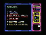 Afteroids MSX Play Select screen