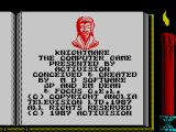 Knightmare ZX Spectrum Initial credits