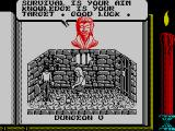 Knightmare ZX Spectrum Cryptic information - that is, of or relating to a crypt
