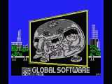 Attack of the Killer Tomatoes MSX Title screen
