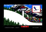 Winter Games Amstrad CPC Ski jump, mid-air