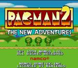 Pac-Man 2: The New Adventures SNES Title screen.