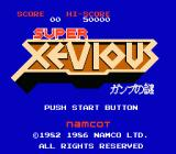 Super Xevious NES Title screen