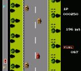 Road Fighter NES Some cars change lanes