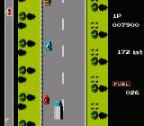 Road Fighter NES Truck drive slower