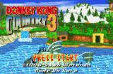 Donkey Kong Country 3: Dixie Kong's Double Trouble! Game Boy Advance Title screen.