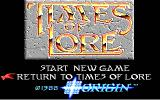 Times of Lore DOS Title screen 1